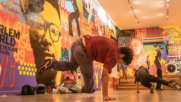 Break dance practice at the Recoleta Cultural Center in Buenos Aires.