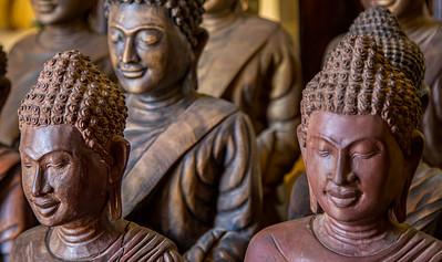 Buddha's in the Royal Palace, Phnom Penh.