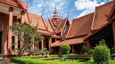 The architecture of the Cambodia National Museum, Phnom Penh.