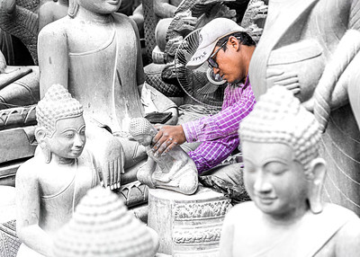 Buddha factory, Phnom Penh, Cambodia
