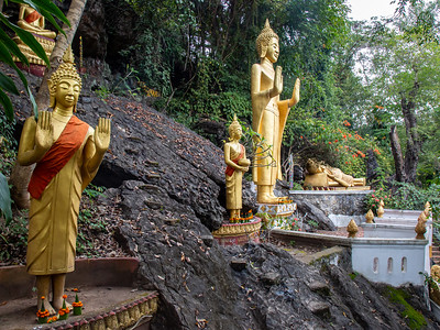 One of the many Buddha gardens along the walk to the top of Phousi Hill in Luang Prabang, Laos