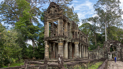 The Hall of Dancers in the Preah Khan temple complex on the outskirts of Angkor Thom
