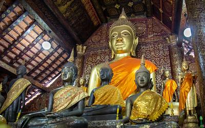 Buddhas in Wat Sene, Luang Prabang