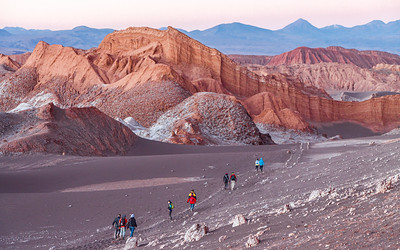 The best part about renting a car and exploring on your own is it all belongs to you when the tour group departs.  The beauty and solitude of the Atacama Desert in Chile becomes overwhelming.
