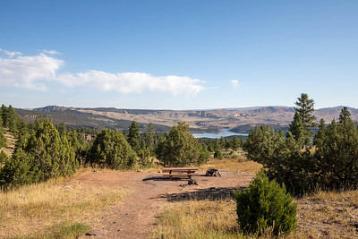 The view from Firefighters Memorial Campground overlooking Flaming Gorge Reservoir, Utah