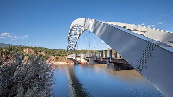 Cart Creek Bridge crosses an inlet of Flaming Gorge Reservoir on Highway 191 in Utah.