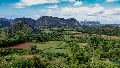 The view from Balcon del Valle.  A short distance out of Vinales is a fantastic viewpoint that overlooks the entire Valle de Vinales.