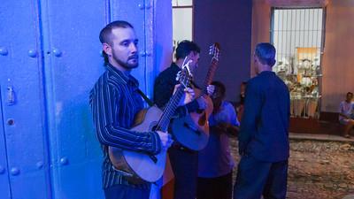 Salsa musicians wait to perform at La Bodeguita Del Medio.