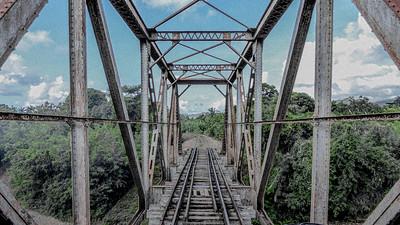A trestle across the Rio Guaurabo on the Valle de los Ingenios railroad.