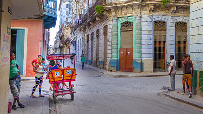 Havanan's at home on the residential streets of Centro Habana.