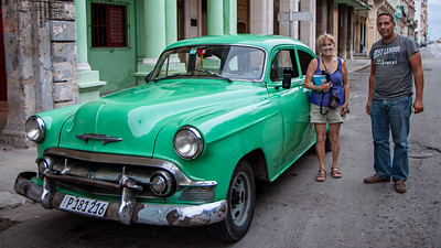 My birth year car.  A 1953 Chevy.  It was sheer luck that it happened driving by when we flagged for a taxi.