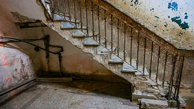 Stairway in the Habana Vieja district of Havana.