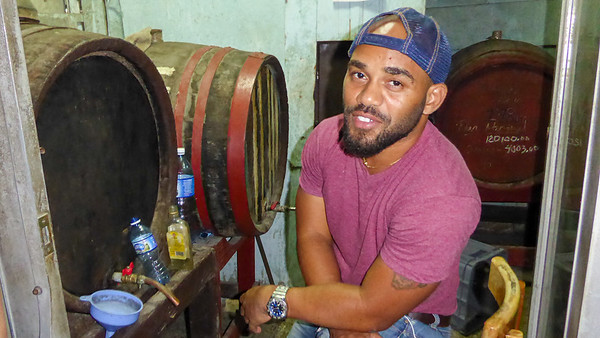 A rum shop near the Plaza Vieja.  It is sold straight from the cask so you must bring your own bottle.