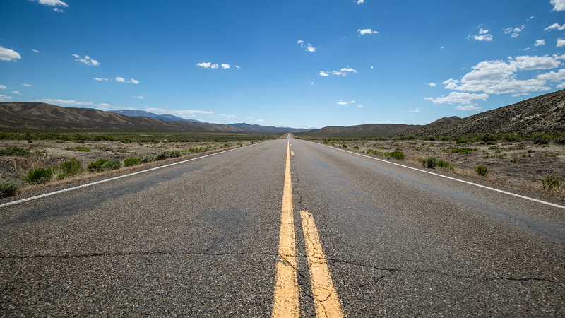 After traveling on Nevada Highway 305 you realize that Highway 50 (aka the Loneliest Road in America) isn't so lonely.  We drove for miles and miles before we would see another vehicle.  You are truly on your own here.