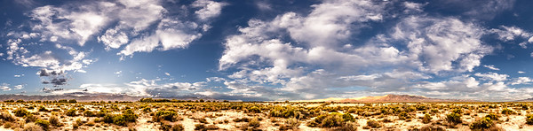 A 360 degree panorama of the Dixie Valley.  The township and farms are all located where the trees are in the distance.
