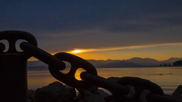 Sunrise over Bridge Bay, Lake Yellowstone, Yellowstone National Park