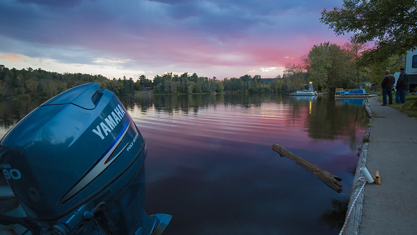 Sunset from the Fond du Lac Campground on the St. Louis River, Duluth Minnesota.