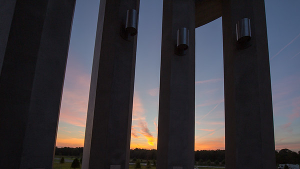 This is the Tower of Voices. It is a monument built to honor the 40 passengers and crew members of Flight 93 that was taken down by foreign terrorists on 9/11 in Shanksville, Pennsylvania. It is 93 feet tall and has 40 wind chimes that sing when there is a breeze.