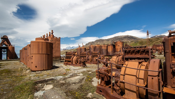 The ruins of a whale oil factory, Grytviken, South Georgia