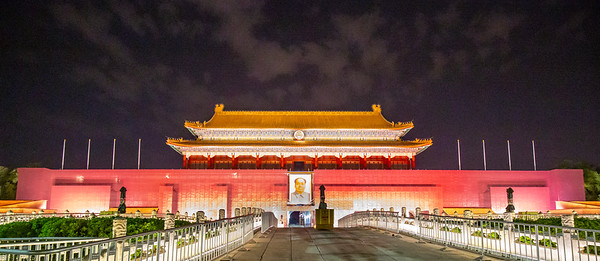 The entryway to the Forbidden City facing south as seen from Tiananmen Square in Beijing.