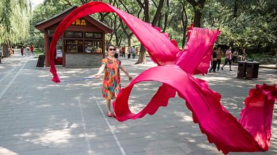 Cai Dai Wu Dao (ribbon dancing) in Beihai Park, Beijing