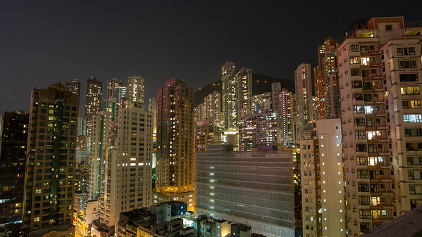 Looking out on the Hong Kong skyline from our room was a beautiful way to end the day.