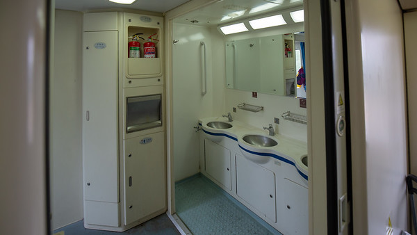 3 sinks for 60 people for the next 54 hours on the train to Lhasa.  It is bound to get interesting.