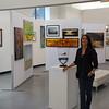 Julie on Art Show set.