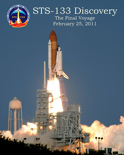 Discovery's Final Launch 16 x 20 Poster