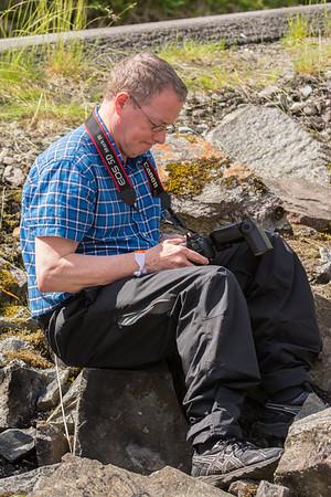 Checking shots, Skjervet, Voss, (Photo: Jørn Stenslig)