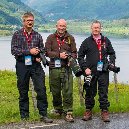 With Jørn Stenslig and Njål Johansen, Voss 2013