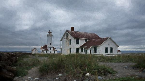 Fort Worden, Point Wilson Light, Port Townsend, Washington