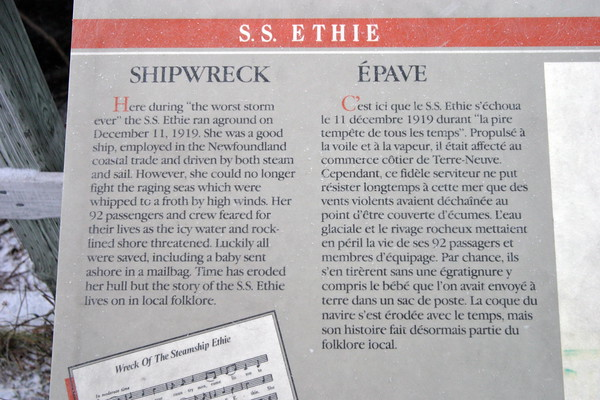Newfoundland, SS Ethie, The Viking Trail