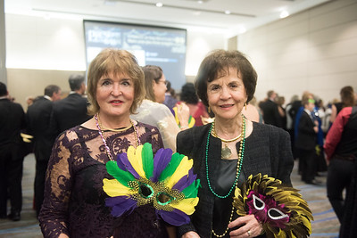Adriana Pop-Moody (left), and Mary Alice Gonzales. Saturday February 25, 2017 at TAMU-CC during the annual President's Mardi Gras Ball.