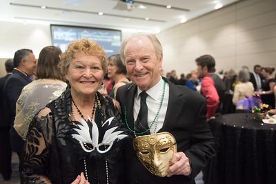 Liz Sefcik and Leon Goins. Saturday February 25, 2017 at TAMU-CC during the annual President's Mardi Gras Ball.