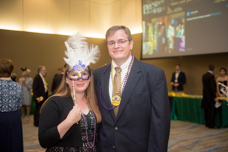 Seneca Holland and Rick Smith. Saturday February 25, 2017 at TAMU-CC during the annual President's Mardi Gras Ball.