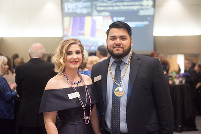 Bethany Frankland and Julian Lopez. Saturday February 25, 2017 at TAMU-CC during the annual President's Mardi Gras Ball.