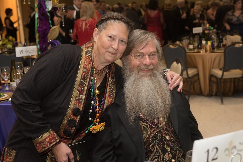 Sandra and Blair Sterba-Boatwright. Saturday February 25, 2017 at TAMU-CC during the annual President's Mardi Gras Ball.
