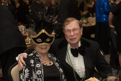 Ola Rushing )left) and Roger Bateman. Saturday February 25, 2017 at TAMU-CC during the annual President's Mardi Gras Ball.