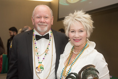Glenn Tesch and Leona Urbish. Saturday February 25, 2017 at TAMU-CC during the annual President's Mardi Gras Ball.