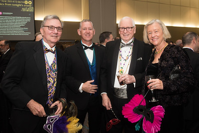 Don Deis (left), Ted Guffy, Patrick O'Boyle, and Kathy Deis. Saturday February 25, 2017 at TAMU-CC during the annual President's Mardi Gras Ball.