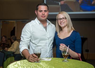 Perry Harris (left), Megan Carbajal