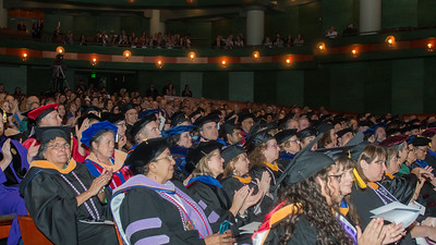 The audience claps at the President's Investiture Ceremony during Inauguration Weekend on Friday, March 2nd, 2018.
