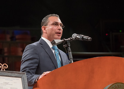 State Representative Abel Herrero speaks during the President's Investiture Ceremony during Inauguration Weekend on Friday, March 2nd, 2018 at Texas A&M University - Corpus Christi