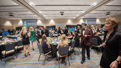 Guests take their places at dining tables during President's Ball on March 3rd, 2018 at Texas A&M University - Corpus Christi.