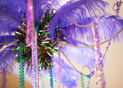 Mardi Gras decorations during President's Ball on March 3rd, 2018 at Texas A&M University - Corpus Christi.