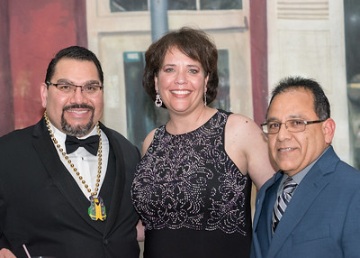 Charles Perez (left), Lisa Perez, and Rick Reyes pose for a photo during President's Ball on March 3rd, 2018 at Texas A&M University - Corpus Christi.