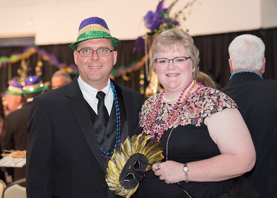 Ed Evans (left) and Christy Evans pose for a photo during President's Ball on March 3rd, 2018 at Texas A&M University - Corpus Christi.