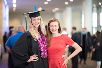 Emily Noack and Lauren Noack. Over 1,100 graduates received their degrees during two commencement ceremonies held on May 13.