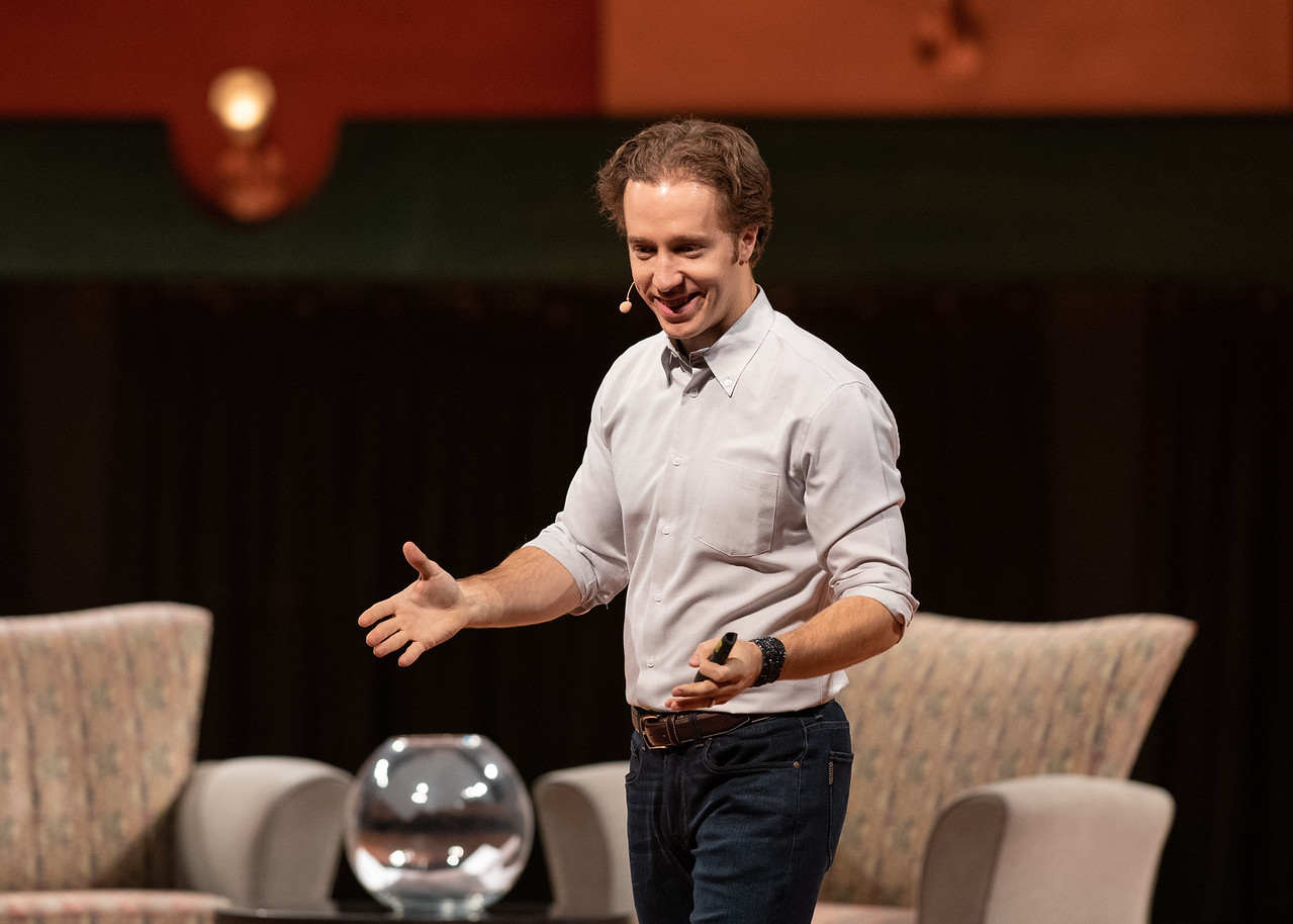 Distinguished Speaker Series featured guests Craig Kielburger, co-founder of the WE Movement, and Spencer West, motivational speaker, social activist and world change warrior, explain their  ...